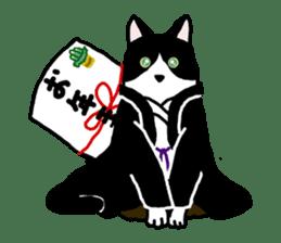A cat seldom talks sticker #2096441