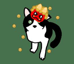 A cat seldom talks sticker #2096442