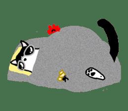 A cat seldom talks sticker #2096447