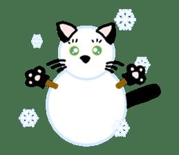 A cat seldom talks sticker #2096451