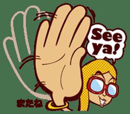 Bilingual Talk Stickers English&Japanese sticker #2096943