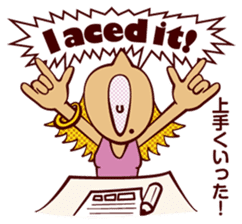 Bilingual Talk Stickers English&Japanese sticker #2096946