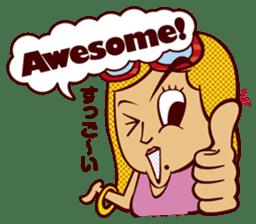 Bilingual Talk Stickers English&Japanese sticker #2096957