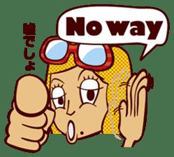 Bilingual Talk Stickers English&Japanese sticker #2096968