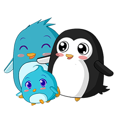 Piroo Cute Penguin and Family