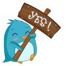 Piroo Cute Penguin and Family sticker #2098279