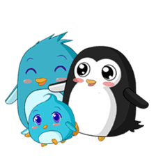 Piroo Cute Penguin and Family sticker #2098284