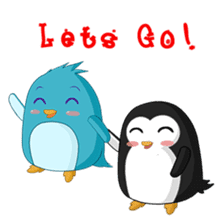 Piroo Cute Penguin and Family sticker #2098285