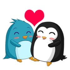 Piroo Cute Penguin and Family sticker #2098286