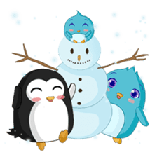 Piroo Cute Penguin and Family sticker #2098287