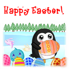 Piroo Cute Penguin and Family sticker #2098289