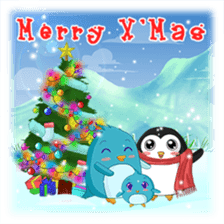 Piroo Cute Penguin and Family sticker #2098291
