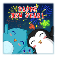 Piroo Cute Penguin and Family sticker #2098292
