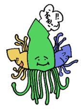oceandakuto of Bodacious  Mr.Squid sticker #2098682