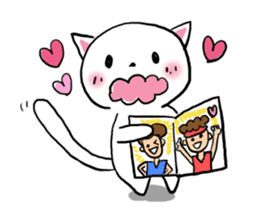 Cat likes Japanese idol sticker #2099609