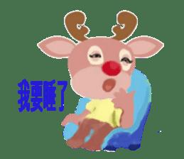 reindeer Daniel is running  around world sticker #2101825