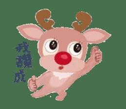 reindeer Daniel is running  around world sticker #2101828