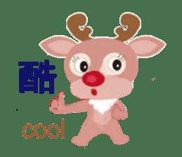 reindeer Daniel is running  around world sticker #2101831