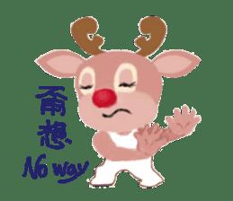reindeer Daniel is running  around world sticker #2101832