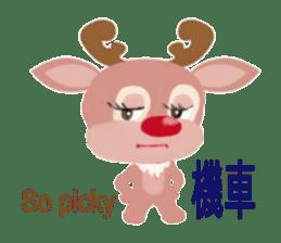 reindeer Daniel is running  around world sticker #2101836
