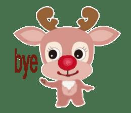 reindeer Daniel is running  around world sticker #2101842