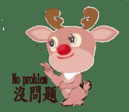 reindeer Daniel is running  around world sticker #2101847