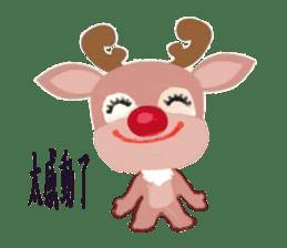 reindeer Daniel is running  around world sticker #2101848