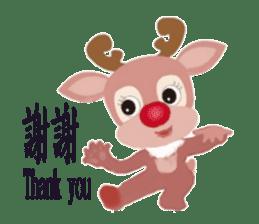 reindeer Daniel is running  around world sticker #2101849
