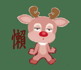 reindeer Daniel is running  around world sticker #2101852