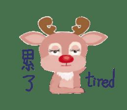 reindeer Daniel is running  around world sticker #2101853