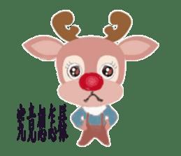 reindeer Daniel is running  around world sticker #2101856