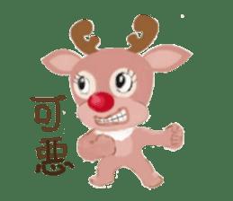 reindeer Daniel is running  around world sticker #2101858