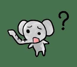 Boy elephant sticker #2102342