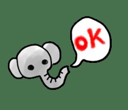 Boy elephant sticker #2102346