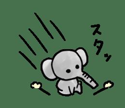 Boy elephant sticker #2102351