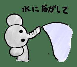 Boy elephant sticker #2102352