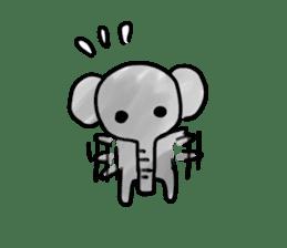 Boy elephant sticker #2102354