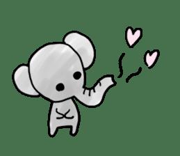 Boy elephant sticker #2102355