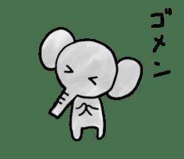 Boy elephant sticker #2102356
