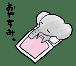Boy elephant sticker #2102358