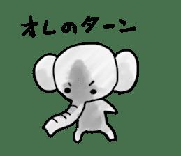 Boy elephant sticker #2102359