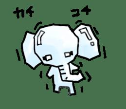 Boy elephant sticker #2102363