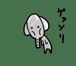 Boy elephant sticker #2102364