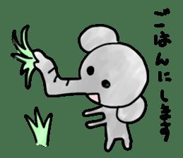 Boy elephant sticker #2102366