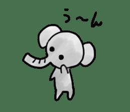 Boy elephant sticker #2102368