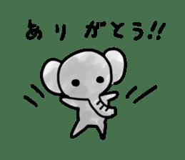 Boy elephant sticker #2102370