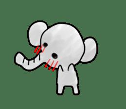 Boy elephant sticker #2102372