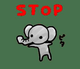 Boy elephant sticker #2102373