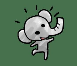 Boy elephant sticker #2102375