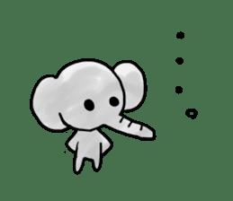 Boy elephant sticker #2102376